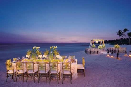 Decoração de casamento na praia - Noite