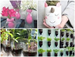 Como fazer Vasos com Garrafas PET