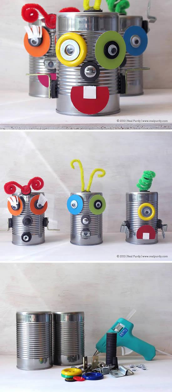 Brinquedo com reciclagem para Dia das Crianças