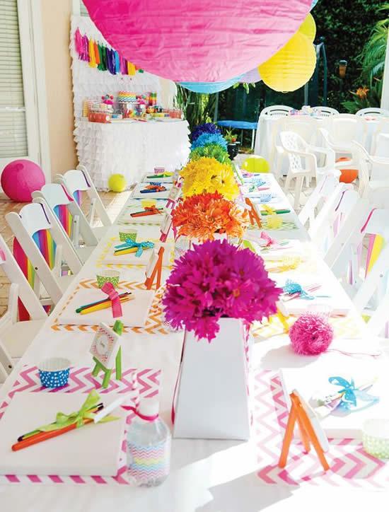 Centro de mesa para Dia das Crianças