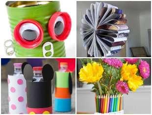Decoração com Reciclagem para o Dia das Crianças