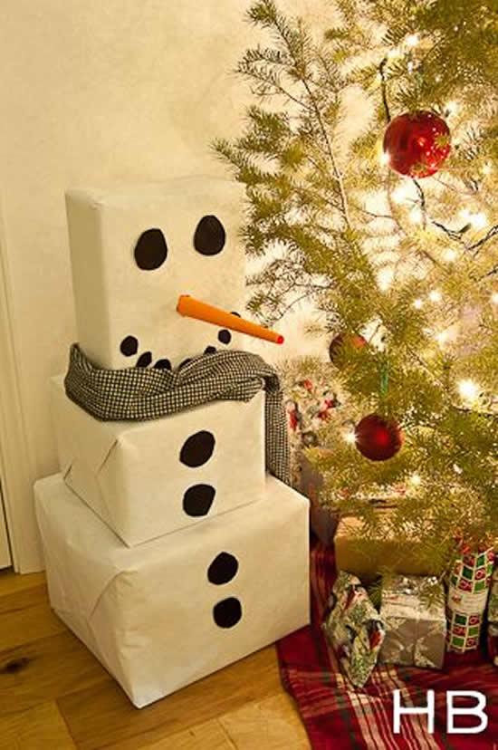 boneco de neve com papel