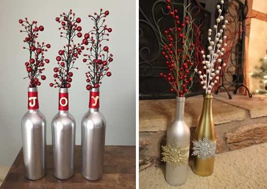 Garrafas de Natal para decoração