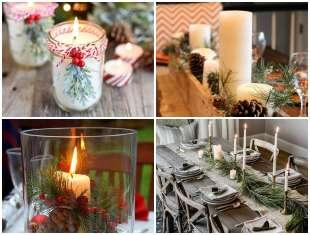 Decoração de Mesa de Natal com Velas