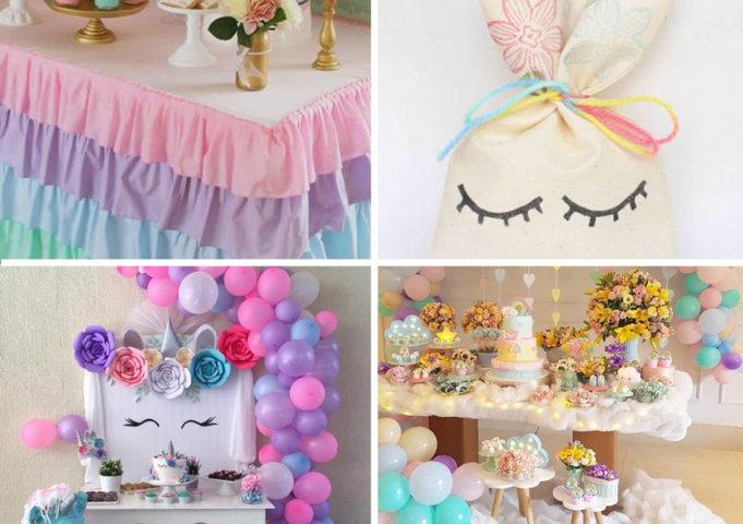 decoracao de festa de unicornio