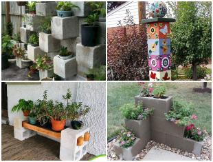 Blocos de Concreto para Decoração de Jardim