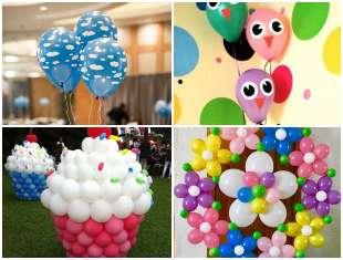 Enfeites com Balões para Festa
