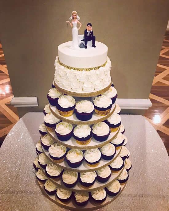 Lindos cupcakes decorados para casamento