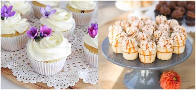 Cupcakes decorados para casamentos