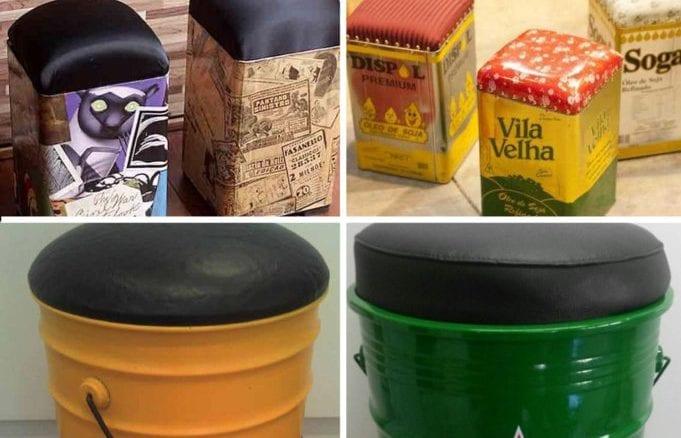 Como fazer puff de lata de tinta para decoração (7)