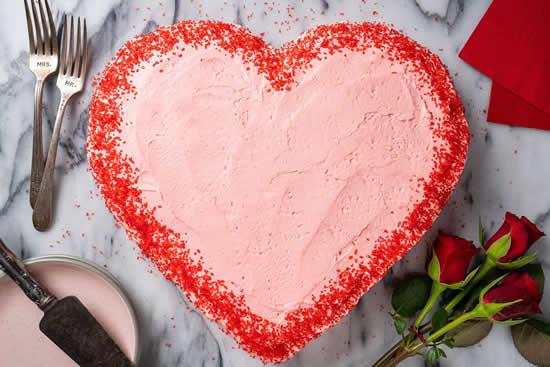 Lindo bolo coração