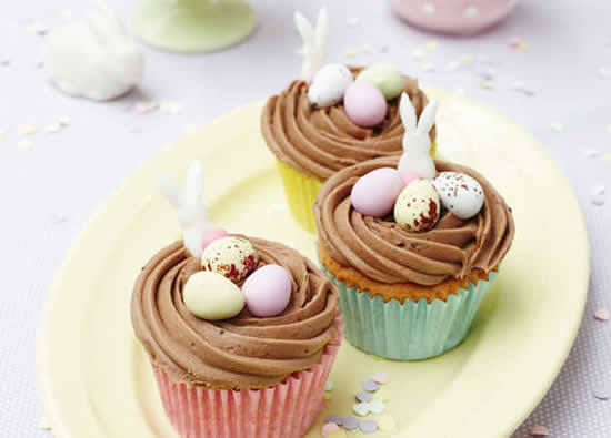 Lindos cupcakes de Páscoa