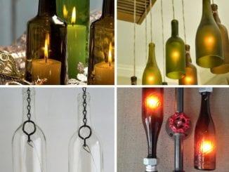 artesanato decorativo luminária de garrafa de vidro reciclada (6)