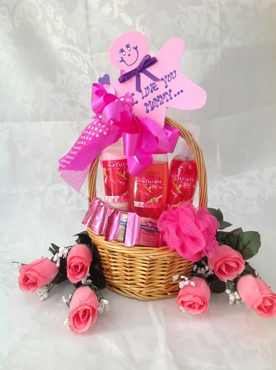 Linda cesta para Dia das Mães