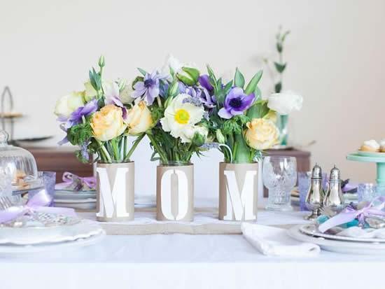 Almoço de Dia das Mães - Decoração