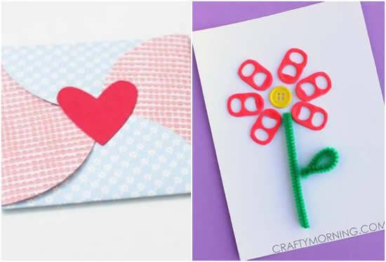Cartão para Dia das Mães com papel