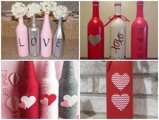 Garrafas Decoradas para Dia dos Namorados