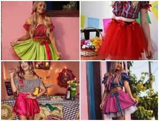 20 inspirações para Saia de Vestido Junino