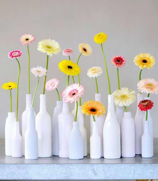 Vasos Maravilhosos com Garrafas de Vidro