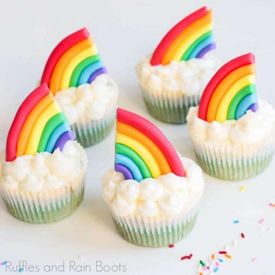 Cupcake Festa Chuva de Amor