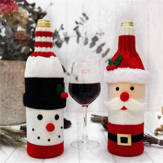Lindas garrafinhas decoradas de Natal