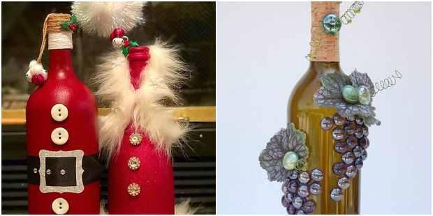 decoração natalina com garrafas de vidro recicladas