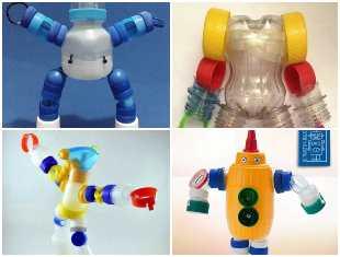 Robô de tampa de garrafa PET