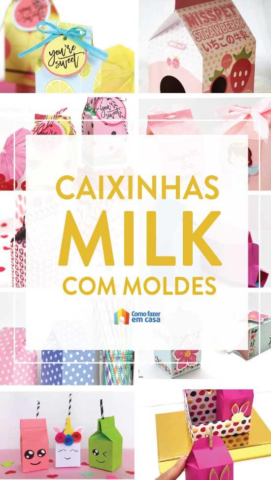 Caixinhas Milk com moldes - Caixinhas de leite