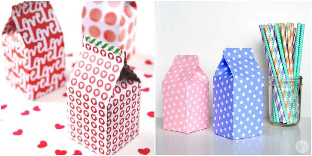 Caixinhas de leite com moldes - Caixinha milk