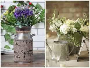 Vasos rústicos lindos para decoração
