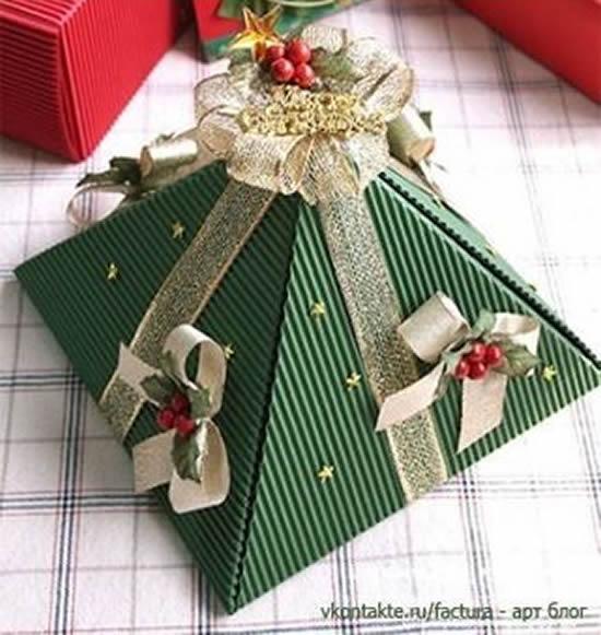 Linda caixinha para lembrancinha de Natal
