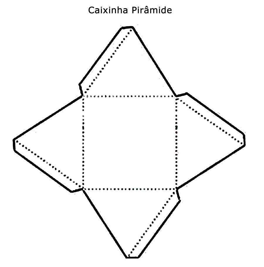 Caixinha pirâmide para Natal com molde
