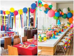Decoração para Dia das Crianças com balões
