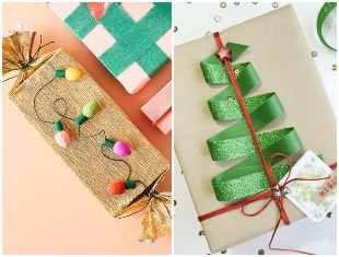Embrulho de papel para presente de Natal