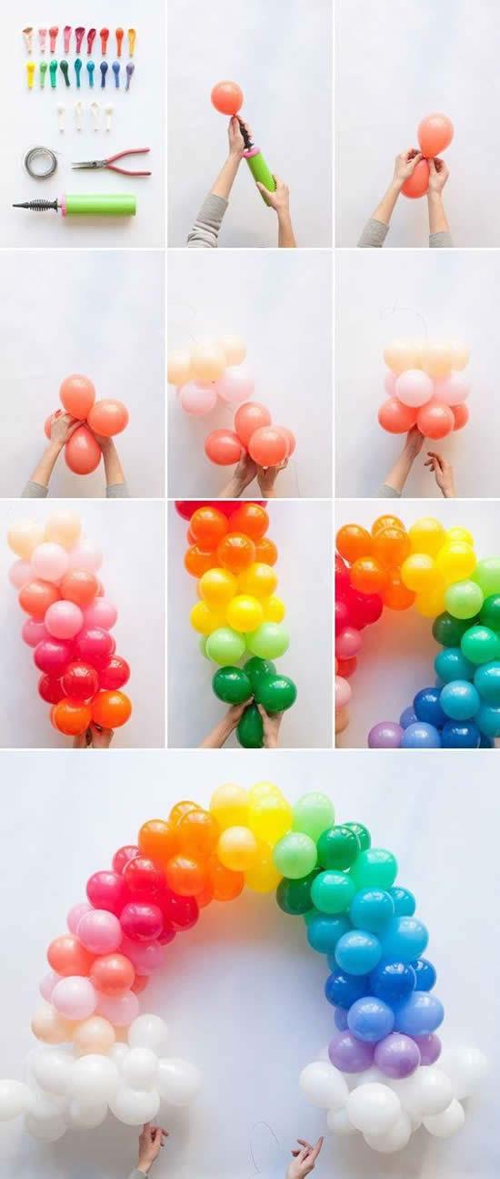 Arco de balões para decoração
