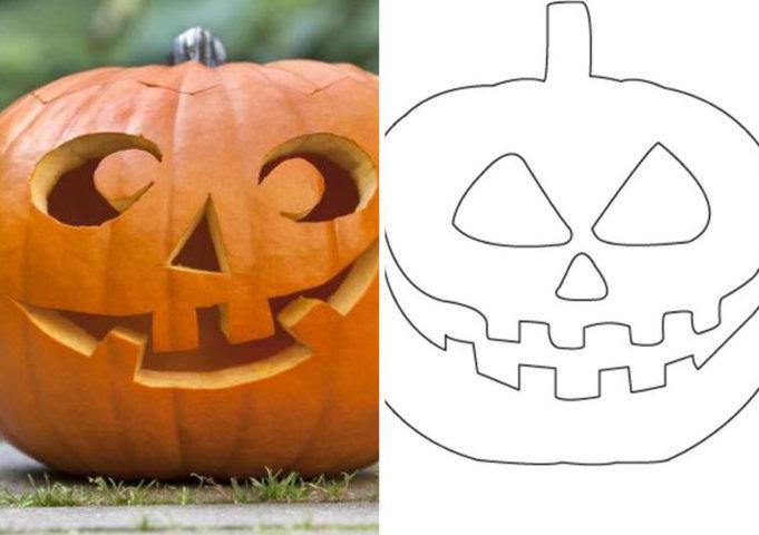 molde de abóbora para halloween