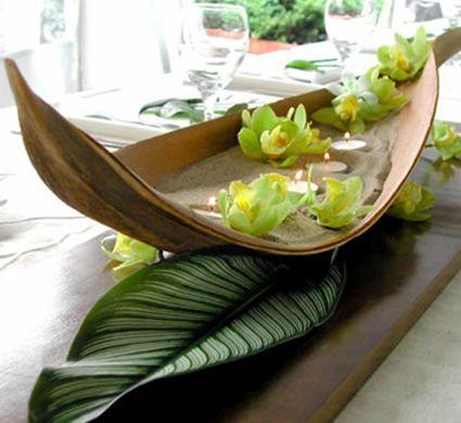 arranjos com casca de coqueiro
