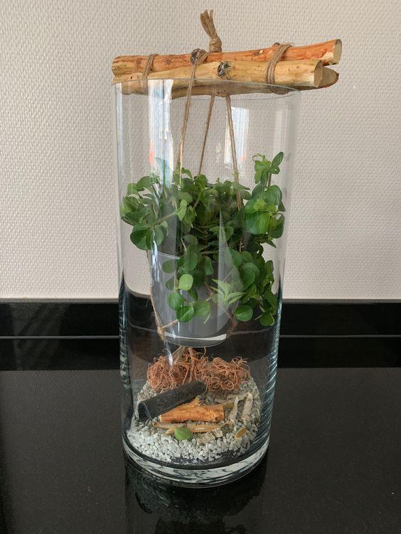 arranjos pendurados em vasos de vidro (11)