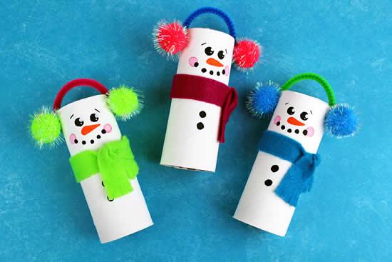 Ideias com rolos de papelão para o Natal