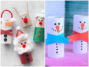 Artesanatos de Natal com rolos de papel higiênico