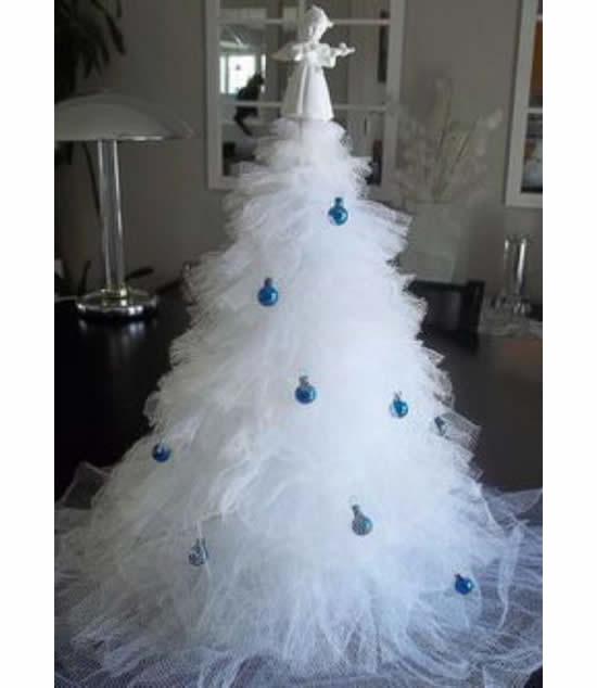Árvore de Natal com tule