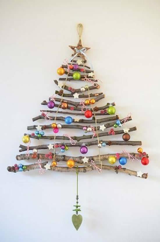Árvore de Natal com galhos