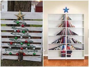 Ideias de Árvores de Natal criativas