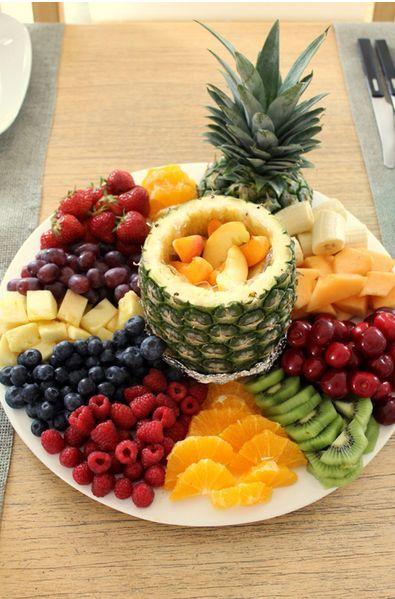 Decoração com melancia e frutas para o verão