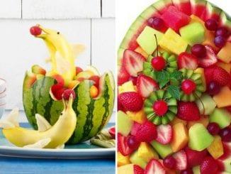 decoração com melancia e frutas para o verão (18)