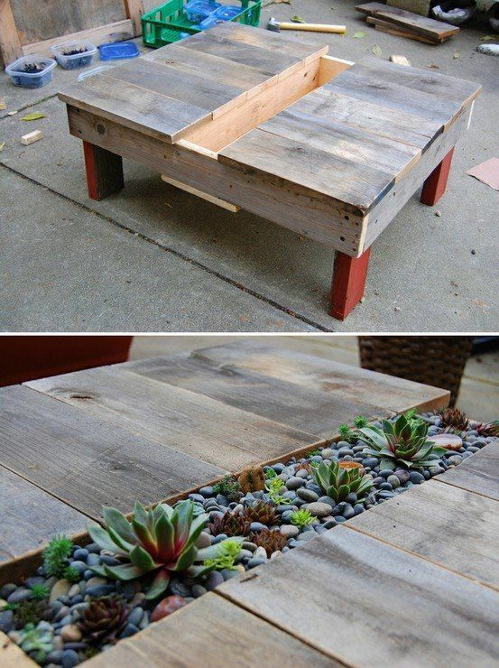 como fazer mesa com vasos e jardineiras