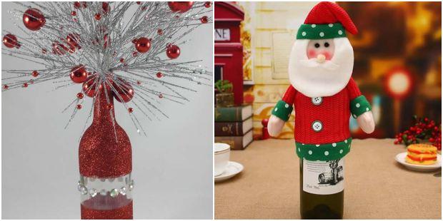 Enfeites com garrafas para o Natal