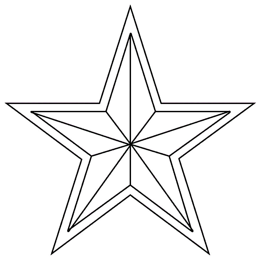 Estrela de Natal para pintar