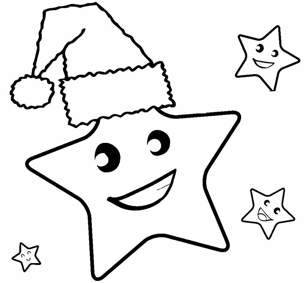 Desenho de Estrela de Natal para pintar