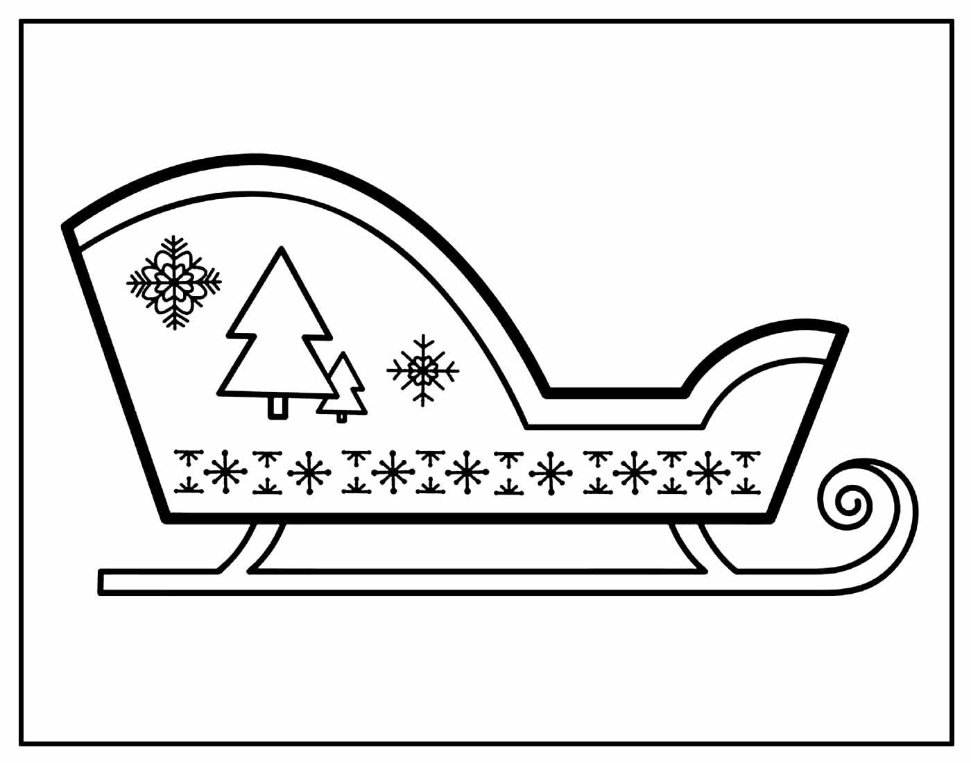 Desenhos de Papai Noel com trenó